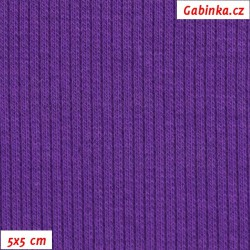 Náplet žebrovaný, fialový, 5x5cm