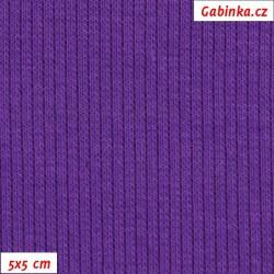 Náplet žebrovaný 2:2, fialový, B-168, šíře 120 cm, 10 cm, ATEST 1
