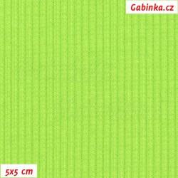 Náplet žebrovaný 2:2, Jasně zelený X, šíře 120 cm, 10 cm, ATEST 1