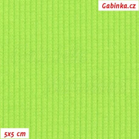 Náplet žebrovaný, jasně zelený, 5x5cm