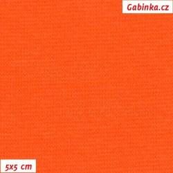 Náplet hladký 1:1, oranžový, C-014, šíře 150 cm, 10 cm, ATEST 1