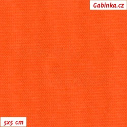 Náplet hladký 1:1 tunel, A - ostře oranžový 1014, šíře 150 cm, 10 cm, ATEST 1