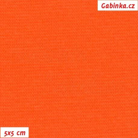 Náplet hladký, oranžový, 5x5cm