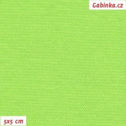 Náplet hladký 1:1, neonově zelený, C-114, šíře 150 cm, 10 cm, ATEST 1