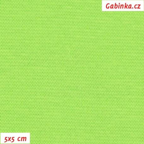 Náplet hladký, neónově zelený, 5x5cm