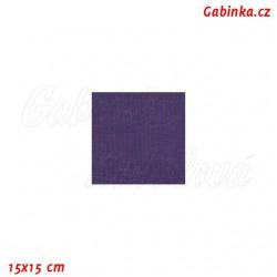 Plátno - modroofialové, 008A, šíře 140 cm, 10 cm, ATEST 1
