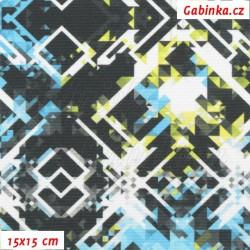 Kočárkovina Premium, SKI modrozelenočerná, 15x15cm