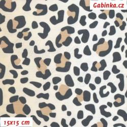 Kočárkovina LESK, Bílý leopard, 15x15cm