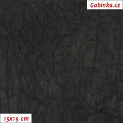 Úplet PES/EL krešovaný, černý, 15x15cm