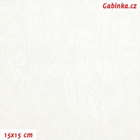 Úplet PES/EL krešovaný, bílý, 15x15cm