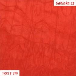 Úplet PES/EL krešovaný, červený - 0245, šíře 150 cm, 10 cm