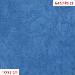 Úplet PES/EL krešovaný, modrý, 15x15cm