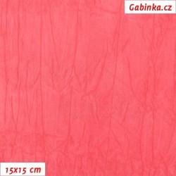 Úplet PES/EL krešovaný, růžový - 0330, šíře 150 cm, 10 cm