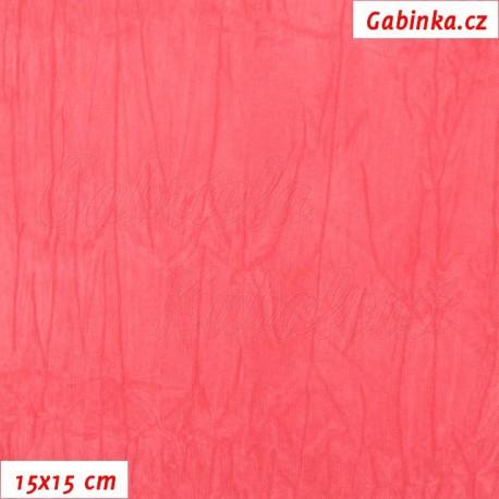 Úplet PES/EL krešovaný, růžový, 15x15cm