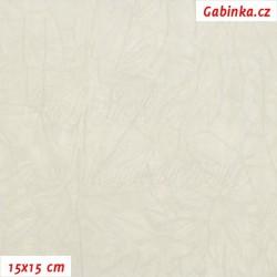 Úplet PES/EL krešovaný, sv. šedý, 15x15cm