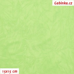 Úplet PES/EL krešovaný, sv. zelený - 0844, šíře 150 cm, 10 cm
