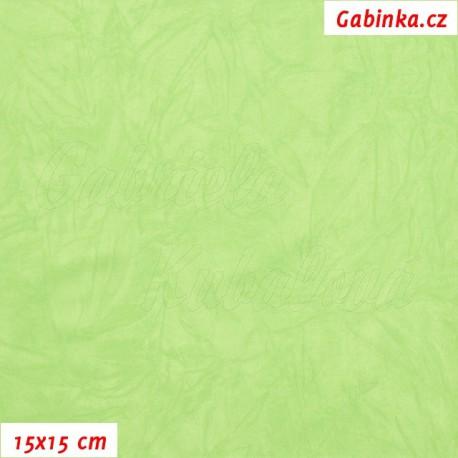 Úplet PES/EL krešovaný, sv. zelený, 15x15cm