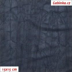 Úplet PES/EL krešovaný, tm. modrý, 15x15cm