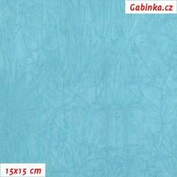 Úplet PES/EL krešovaný, tyrkysový - 0615, šíře 150 cm, 10 cm