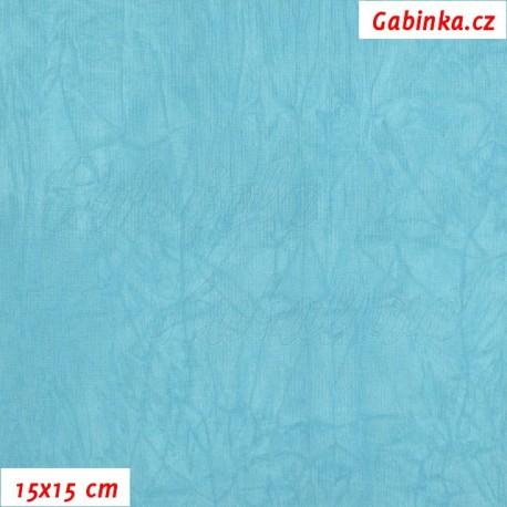 Úplet PES/EL krešovaný, tyrkysový, 15x15cm