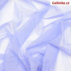 Látka Tyl elastický - fialový LILA, šíře 140 cm, 10 cm