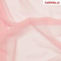 Tyl elastický, růžový