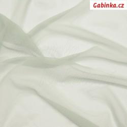 Tyl elastický - Světle šedý, šíře 150 cm, 10 cm