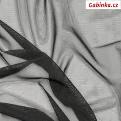 Tyl elastický - Černý, šíře 150 cm, 10 cm