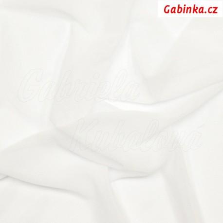 Tyl elastický, bílý
