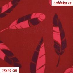 Látka softshell - Pírka na vínové, šíře 145 cm, 10 cm
