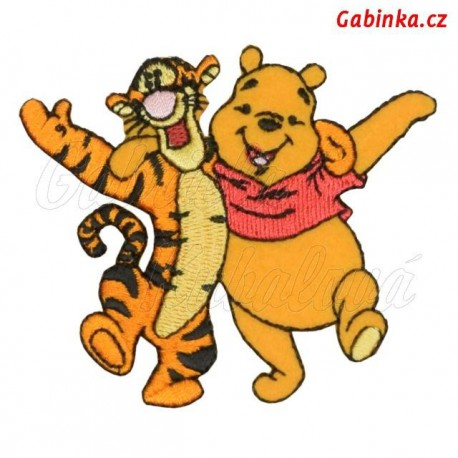 Nažehlovačka Disney - Medvídek Pú 10 - s tygrem kamarádi