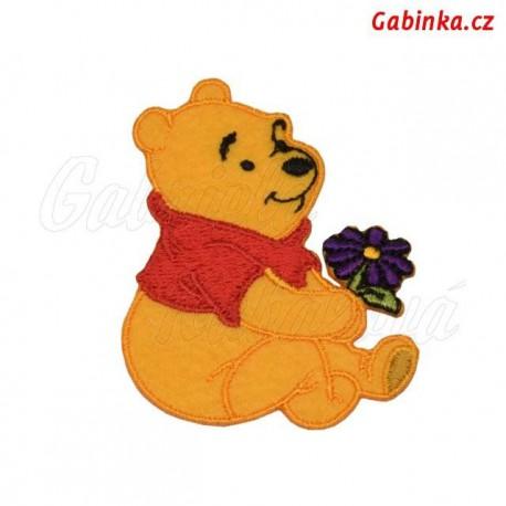 Nažehlovačka Disney - Medvídek Pú 11 - s fialovou kytičkou