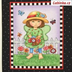 Plátno USA - Quilting Treasures - MARY'S FAIRIES - Děti v zahradě, obrázek 1