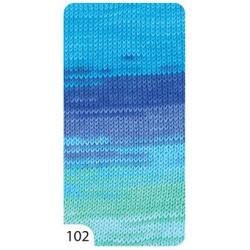 Příze - Camilla batik, melír č. 102, 100 g (260 m)