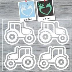 Nažehlovací potisk svítící ve tmě - Traktory II (4 ks)