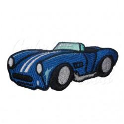 Nažehlovačka modré auto