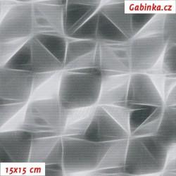 Kočárkovina Primax - X šedý, šíře 158 cm, 10 cm