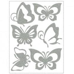 Reflexní nažehlovací potisk - Motýlci II (6 ks)