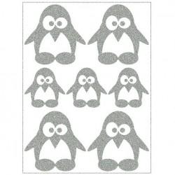 Reflexní nažehlovací potisk - Tučňáčci II (4+3 ks)