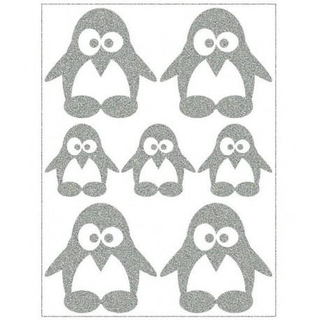 Reflexní nažehlovací potisk, Tučňáčci II