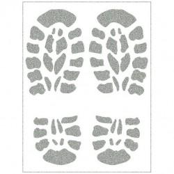 Reflexní nažehlovací potisk - Stopy OUTDOOR (2 ks)