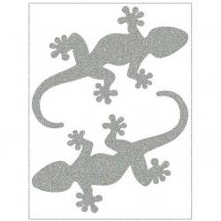Reflexní nažehlovací potisk - Velké ještěrky (2 ks)
