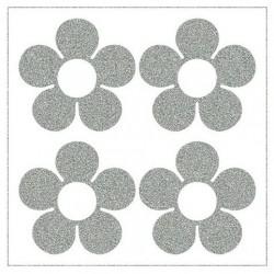 Reflexní nažehlovací potisk - Střední kytičky III (4 ks)