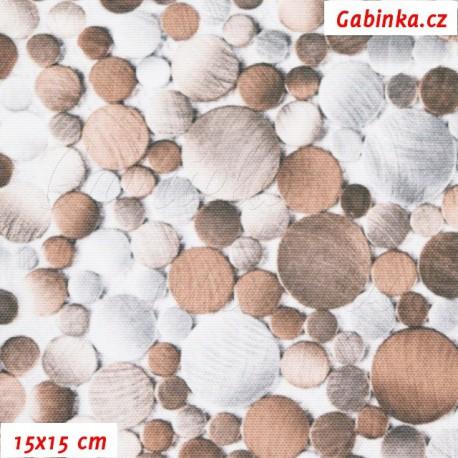 Kočárkovina Premium, Kamínky hnědé a bílé, šíře 160 cm, 10 cm