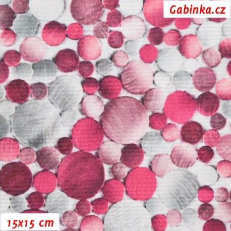 Kočárkovina Premium, Kamínky růžové a šedé, 15x15 cm