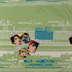 Viskózový úplet panel - Welcome to my party, zelená, šíře 160 cm, 65 cm