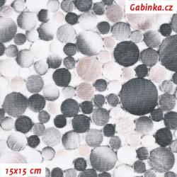 Kočárkovina Premium, Kamínky šedé a bílé, šíře 160 cm, 10 cm, ATEST 1