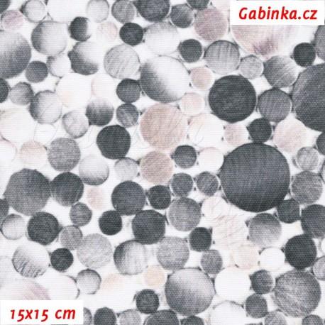 Kočárkovina Premium, Kamínky šedé a béžové, 15x15 cm