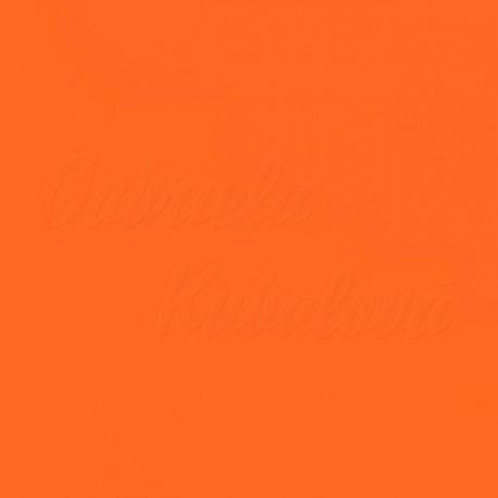 Látka, plátno - oranžová, šíře 150 cm, 10 cm