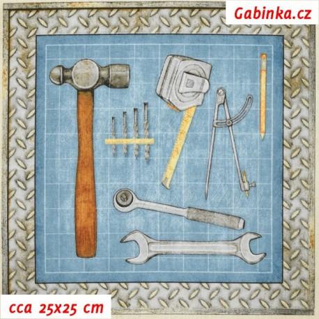 Plátno USA - Quilting Treasures - Craftsman - Panely nářadí, nářadí 1